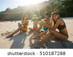 group of young friends enjoying ... | Shutterstock . vector #510187288