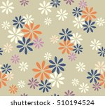 abstract cute color flower with ... | Shutterstock .eps vector #510194524
