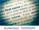 close up of old english... | Shutterstock . vector #510202033
