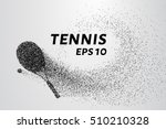 tennis of particles. tennis... | Shutterstock .eps vector #510210328