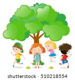 kids playing hide and seek in... | Shutterstock .eps vector #510218554