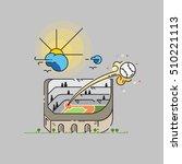 home run  baseball ball being... | Shutterstock .eps vector #510221113