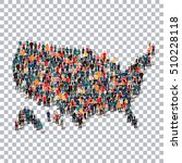 people map country america usa... | Shutterstock .eps vector #510228118