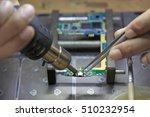 repair smartphone. male solder... | Shutterstock . vector #510232954