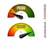 credit score gauge  poor and... | Shutterstock .eps vector #510254020
