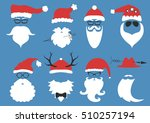 silhouette with cool beard and... | Shutterstock .eps vector #510257194