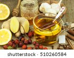 natural treatment for colds and ... | Shutterstock . vector #510260584