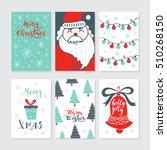 vector merry christmas greeting ... | Shutterstock .eps vector #510268150
