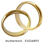 wedding rings - stock vector