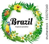 brazil  vector illustration of... | Shutterstock .eps vector #510270160