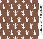 snowman seamless design pattern.... | Shutterstock .eps vector #510282838