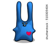soft toy in the form of a blue... | Shutterstock .eps vector #510305404