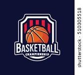 basketball logo  american logo... | Shutterstock .eps vector #510305518