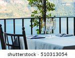 a restaurant table in a...   Shutterstock . vector #510313054