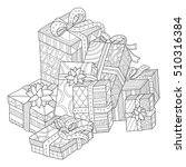 gift boxes coloring page for... | Shutterstock .eps vector #510316384