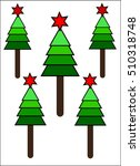 christmas tree | Shutterstock .eps vector #510318748