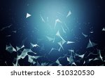 3d abstract polygonal space... | Shutterstock . vector #510320530