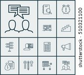 set of project management icons ... | Shutterstock .eps vector #510321100