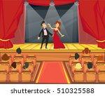 spectators watch representation ... | Shutterstock .eps vector #510325588