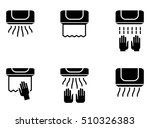 hand dryer icons. vector set... | Shutterstock .eps vector #510326383