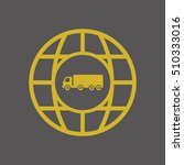 truck  icon vector. flat design.   Shutterstock .eps vector #510333016