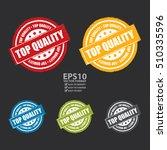 vector   top quality label ... | Shutterstock .eps vector #510335596