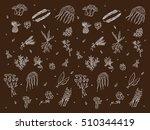 green friends. pattern plants... | Shutterstock .eps vector #510344419