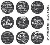 merry christmas lettering... | Shutterstock .eps vector #510354268