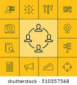 set of project management icons ... | Shutterstock .eps vector #510357568