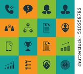 set of human resources employer ... | Shutterstock .eps vector #510358783