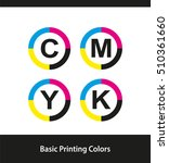 basic printing colors in circle ... | Shutterstock .eps vector #510361660