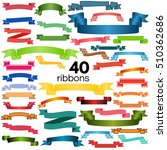 set of  colorful empty ribbons... | Shutterstock . vector #510362686