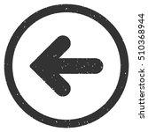 arrow left rubber seal stamp... | Shutterstock .eps vector #510368944