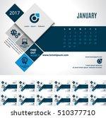 calendar 2017 vector template   ... | Shutterstock .eps vector #510377710