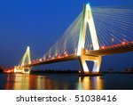 Haikou Century Bridge and the night