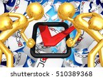 vote election concept with the...   Shutterstock . vector #510389368