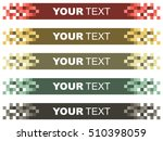 colorful title bar | Shutterstock .eps vector #510398059