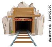 railroad mine entrance tunnel | Shutterstock .eps vector #510403030