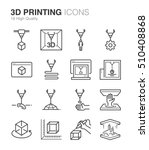 3d printing icons | Shutterstock .eps vector #510408868