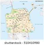 san francisco road and... | Shutterstock .eps vector #510410980