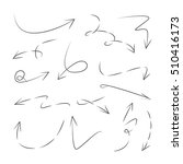 hand drawn arrows  | Shutterstock .eps vector #510416173