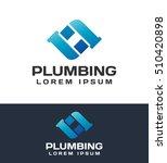 plumbing pipes. plumbing logo.... | Shutterstock .eps vector #510420898
