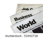 newspapers on white background | Shutterstock . vector #51042718