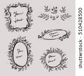 floral elements and wedding... | Shutterstock .eps vector #510428500