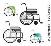 wheelchair vector icon | Shutterstock .eps vector #510434830