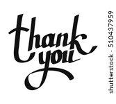 thank you handwritten... | Shutterstock .eps vector #510437959