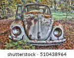 abandoned beetle in a forest