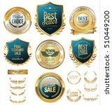 vector medieval golden shields... | Shutterstock .eps vector #510449200