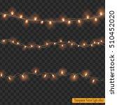 christmas lights isolated on... | Shutterstock .eps vector #510452020