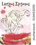 banner  poster with dansing... | Shutterstock .eps vector #510452050